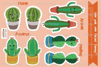 Cut & Sew Cactus Family