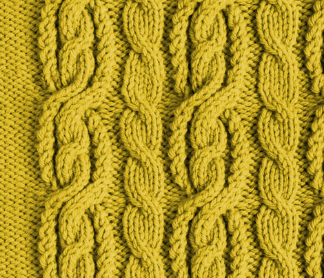 Cabled Knit - Harvest fabric by scottlaflam on Spoonflower - custom fabric