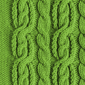 Cabled Knit - Sage