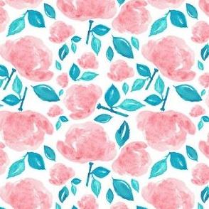 """4"""" Bohemian Rose - Pink & Aqua"""