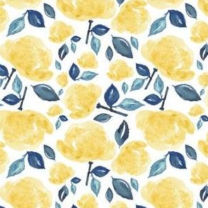 "4"" Bohemian Rose - Yellow & Blue"