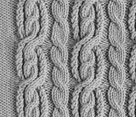 Cabled Knit - Grey fabric by scottlaflam on Spoonflower - custom fabric