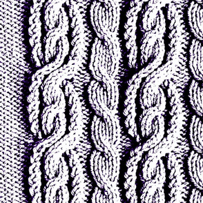 Cabled Knit - Posterized