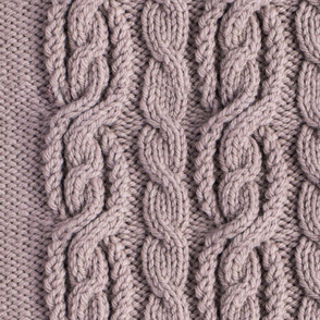 Cabled Knit - Hint of Lavender