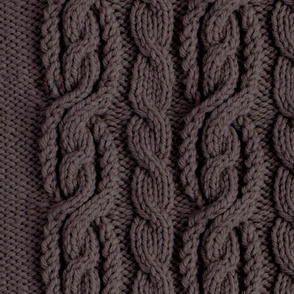 Cabled Knit - Dark Grey
