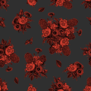Vintage Bouquet - Blood Red