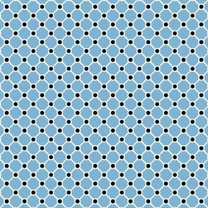 Talavera - Half Inch Pale Blue Grid with Black Corner Dots