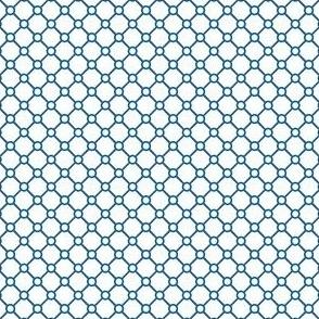 Talavera - Half Inch Blue Grid with Corner Dots