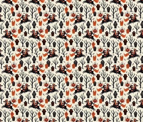 Headless Horseman  fabric by therewillbecute on Spoonflower - custom fabric