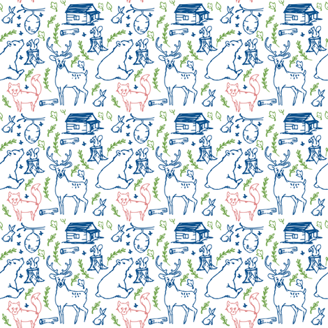 Into the Forest fabric by brushwelldesigns on Spoonflower - custom fabric