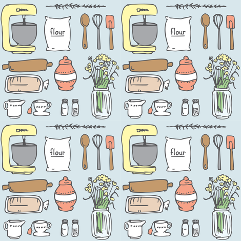 From the Kitchen fabric by brushwelldesigns on Spoonflower - custom fabric