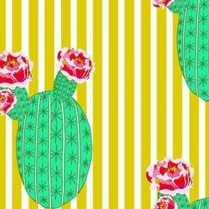 Bloomin Barrel on Yellow Stripes