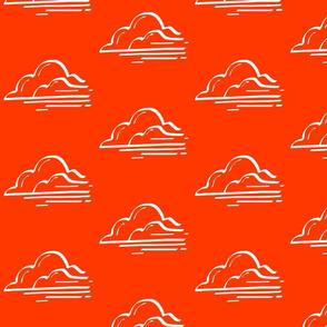 Red Orange Clouds