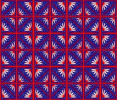 Americana Floral fabric by marjorie_henderson on Spoonflower - custom fabric