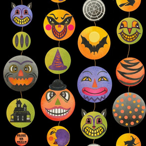 Vintage Halloween  Lantern Maze black