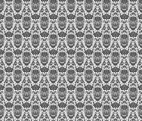 Skull Lace fabric by svetlana_prikhnenko on Spoonflower - custom fabric