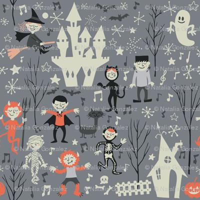 Vintage love shack monster halloween party