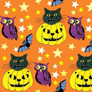 Halloween Cats & Pumpkins