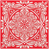 Red symmetrical block