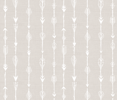 Arrows_Rustic_Linen fabric by thistleandfox on Spoonflower - custom fabric