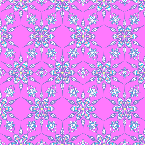Floral Grid 2 fabric by jadegordon on Spoonflower - custom fabric