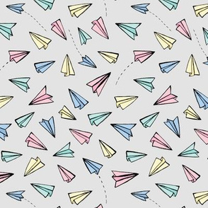 Paper Planes in Pastels