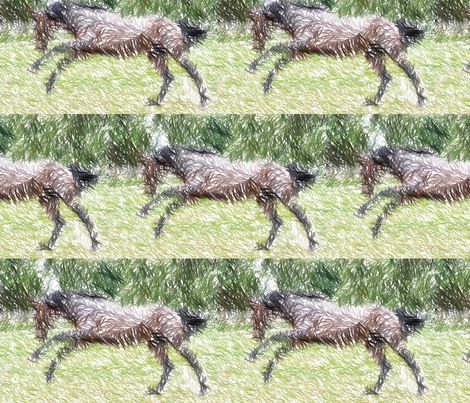 galloping horse fabric by dogdaze_ on Spoonflower - custom fabric