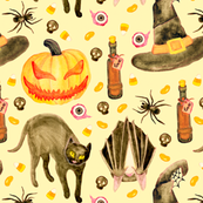 Vintage Halloween Pattern