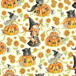 Kittens and Pumpkins