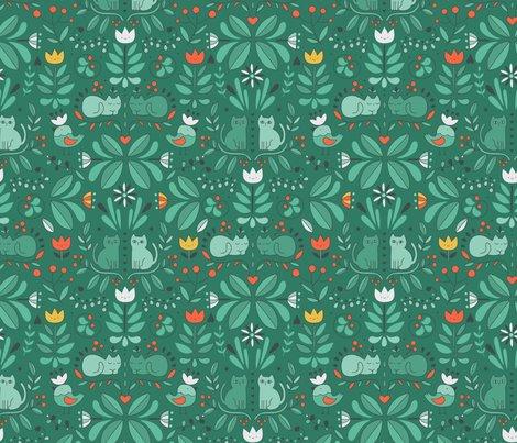Rswedish_folk_art_cats_green_shop_preview