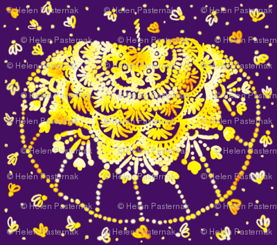 Rustic pumpkin doily (purple)