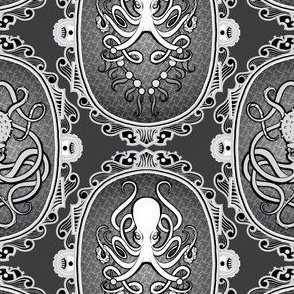 Steampunk Octopus Cameo 3