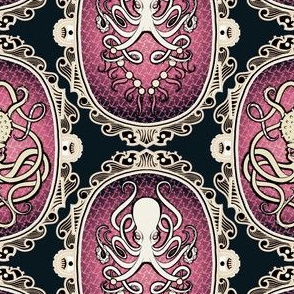 Steampunk Octopus Cameo 4
