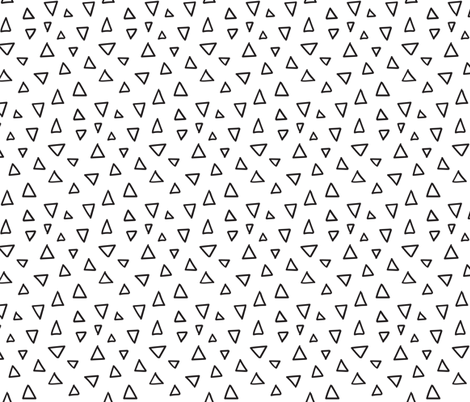 Abstrat doodles design.  Triangles fabric pattern. fabric by kostolom3000 on Spoonflower - custom fabric