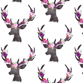 """8"""" Deer Head Floral BRIGHT"""