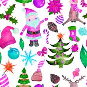 """2"""" PINK Santa Reindeer"""