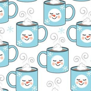 hot-chocolate-snowman mugs
