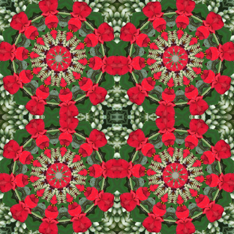 Red and Green Pinwheels 2344 fabric by falcon11 on Spoonflower - custom fabric
