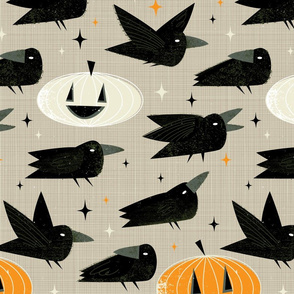 MCM Crows and Jack-O'-Lanterns by Friztin