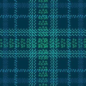 A ride under the northern lights plaid