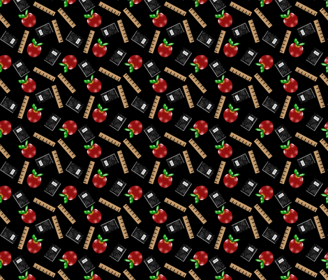 Back to School Apple fabric by rhyannon on Spoonflower - custom fabric