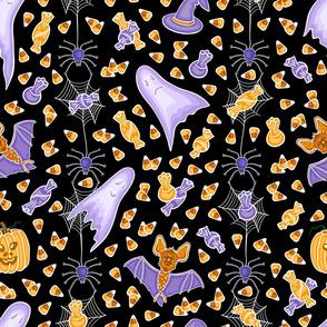 halloween black pattern