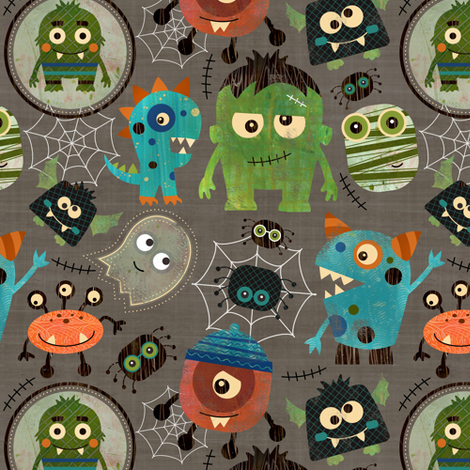 Little Monsters fabric by sarah_treu on Spoonflower - custom fabric