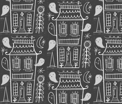 Haunted houses  fabric by anda on Spoonflower - custom fabric