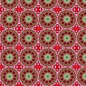 Red Floral Pinwheels 2325