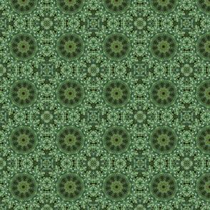 Green Daphne Snowflakes 2353