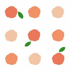 Watercolor_dots tangerine