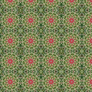 Green Floral Stars 2306