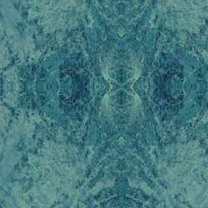 Turquoise Indigo Acid Washed Lace