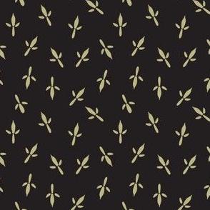 Bird Tracks Tan on Black, Small Wild Animals